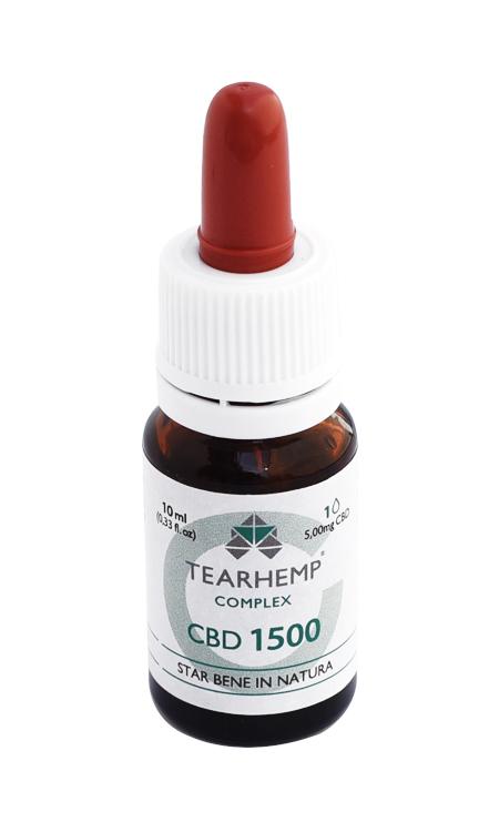 Olio con CBD 15% Tearhemp Complex Ecohemp
