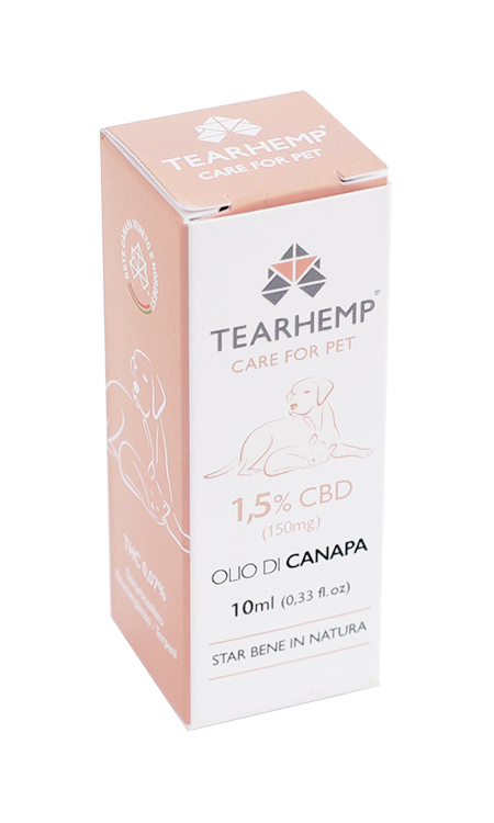 Olio CBD per animali 150mg -Tearhemp Care for Pet di Ecohemp