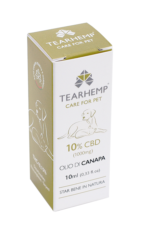 Olio CBD per animali 1000mg - Tearhemp Care for Pet di Ecohemp