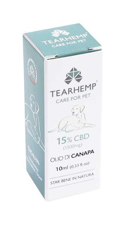 Olio CBD per animali 1500mg - Tearhemp Care for Pet di Ecohemp