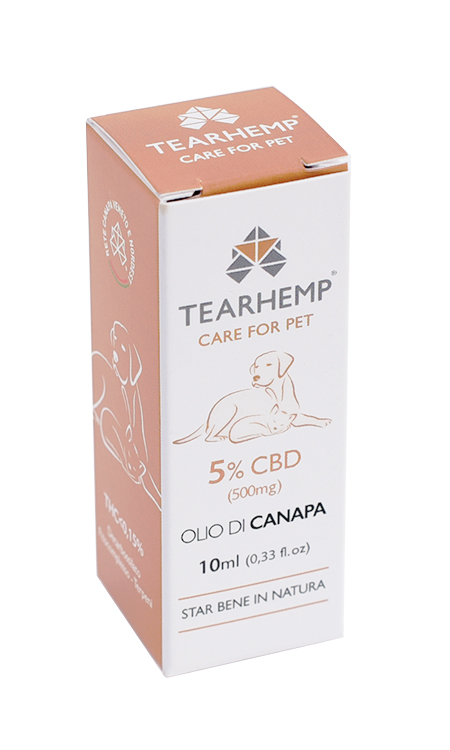 Olio CBD per animali 500mg - Tearhemp Care for Pet di Ecohemp