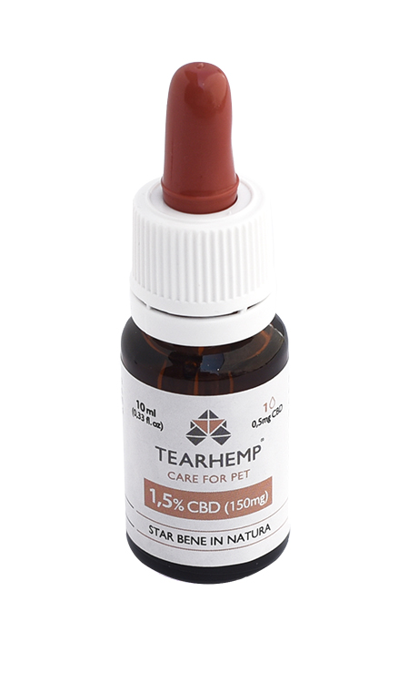 Olio CBD per animali 150mg - Tearhemp Care for Pet di Ecohemp