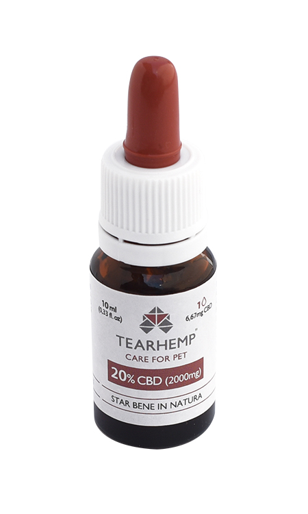 Olio CBD per animali 2000mg - Tearhemp Care for Pet di Ecohemp