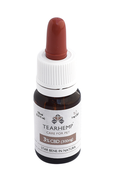 Olio CBD per animali 300mg - Tearhemp Care for Pet di Ecohemp