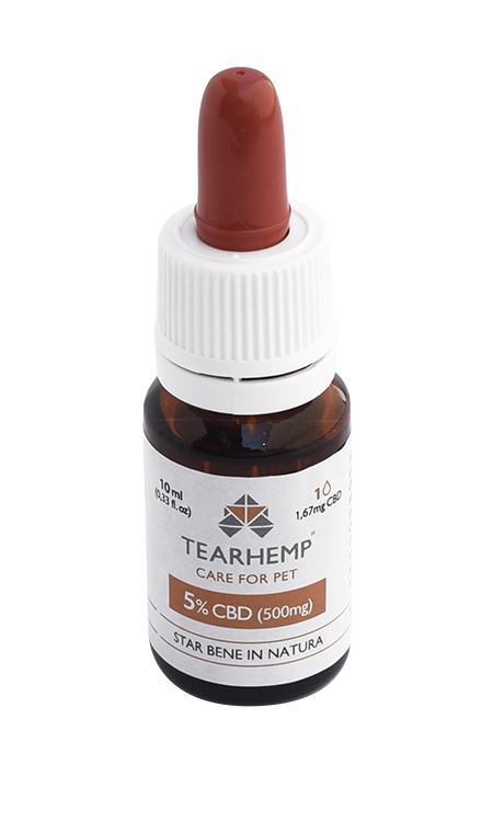 Olio CBD per animali 500mg - Tearhenp Care for Pet di Ecohemp