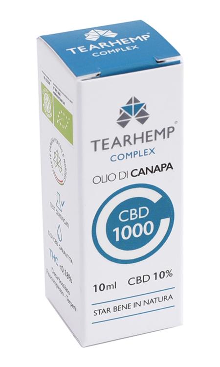 Olio di Canapa con CBD 1000 10% Tearhemp Complex Ecohemp