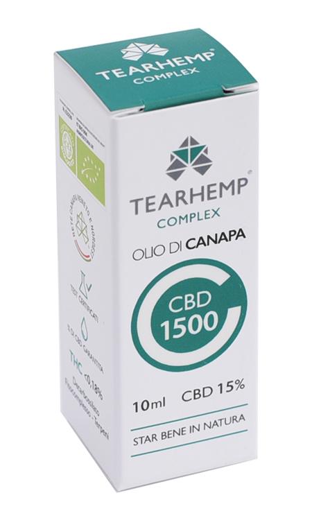 Olio di Canapa con CBD 1500 15% Tearhemp Complex Ecohemp