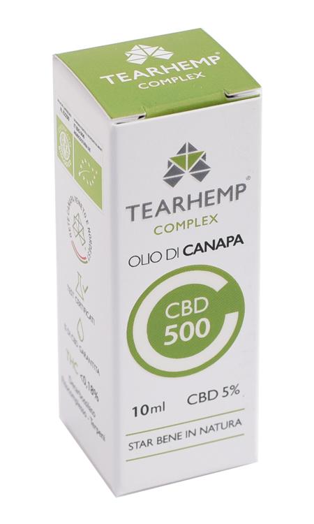 Olio di Canapa con CBD 500 5% Tearhemp Complex Ecohemp